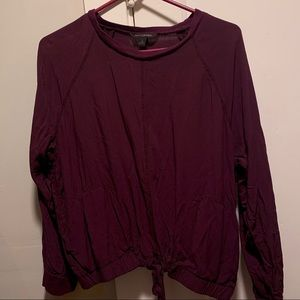 Eggplant purple blouse